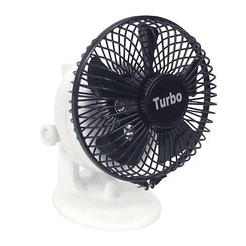 Turbo Desk Fan, Black and White