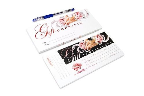 Gift Certificates with Envelops and a Pen