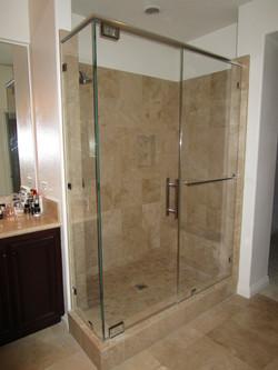 Custom Glass Shower with Header