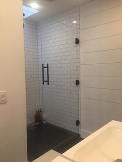 Ladder Pull Frameless Shower