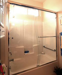 S-Shaped Bathtub Shower Doors