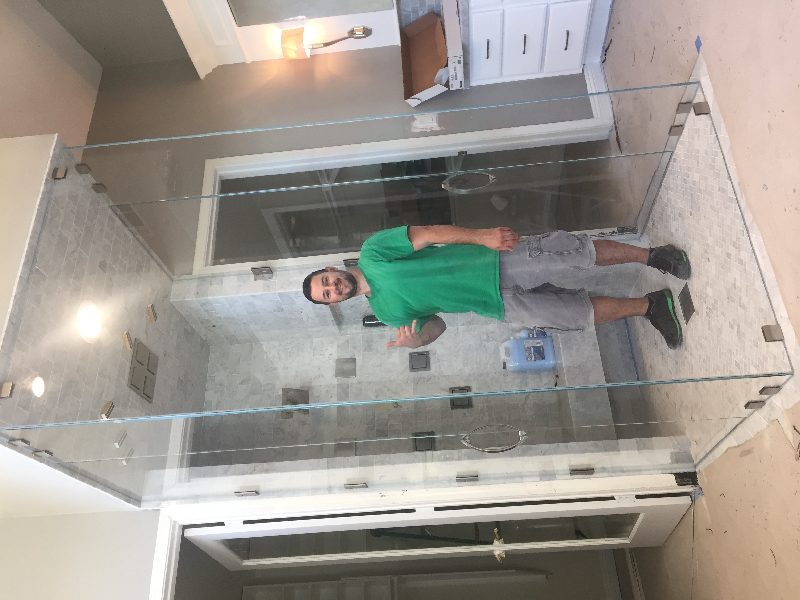 Custom Double Door Steam Shower