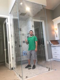 Custom Double Door Steam Shower