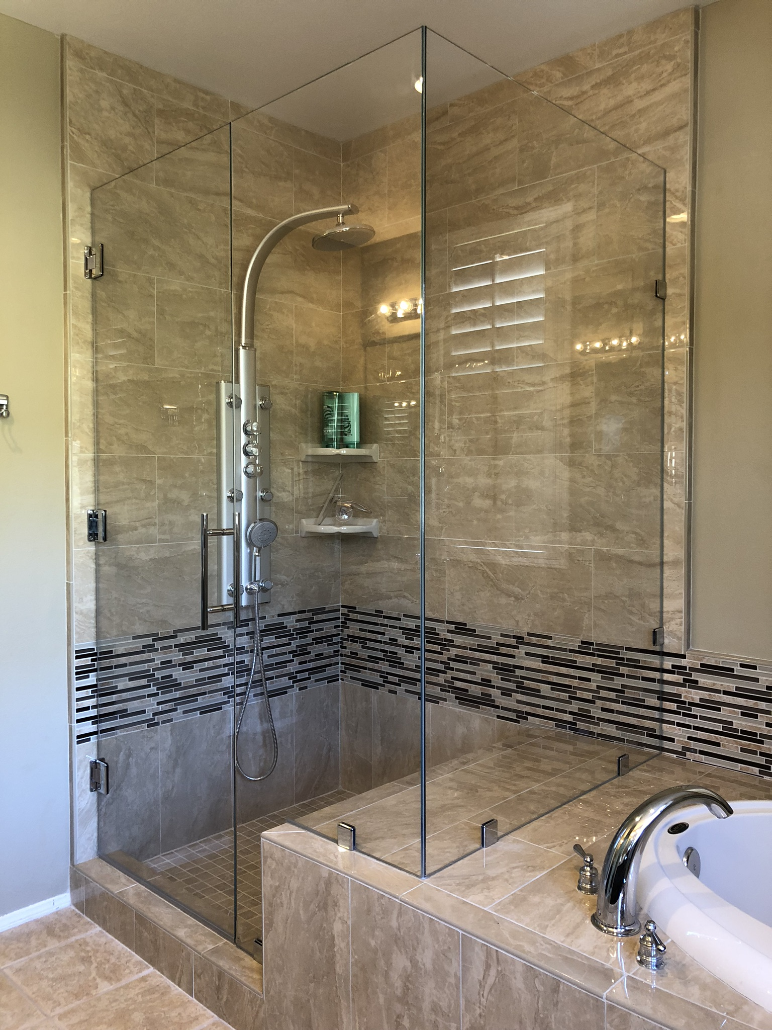 Corner Shower Brushed Nickel