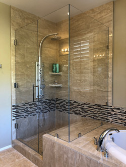 Corner Shower Brushed Nickel