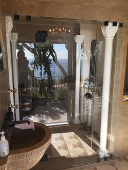 Shower Overlooking the Ocean