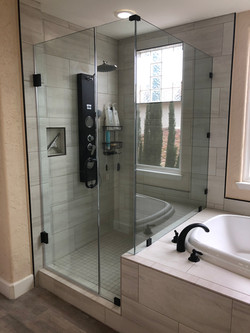 Matte Black 90 Degree Shower