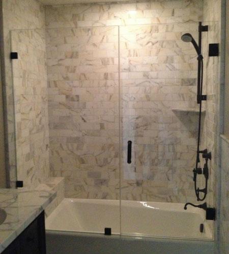 Frameless Bathtub Enclosure