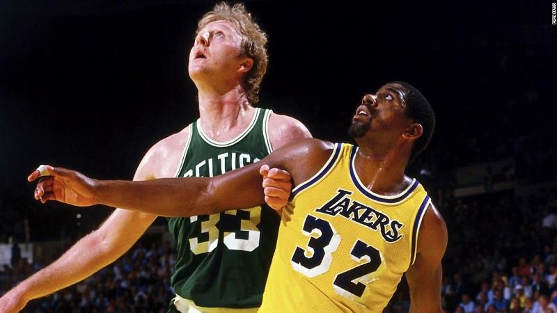 Larry Bird Magic Johnson Around the Game NBA