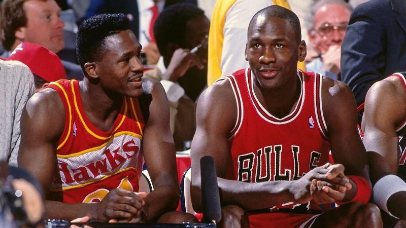 Dominique Wilkins Michael Jordan All-Star Game Dunk Contest 1988