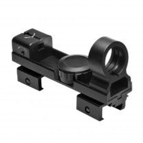 "1X25 RED & GREEN DOT REFLEX SIGHT / WEAVER & 3/8"" DOVETAIL BASE/BLACK"