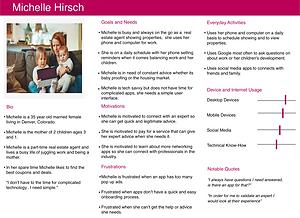 Meet Michelle Hirsch-User Persona #3