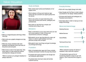Meet Nikki Houston-User Persona #1