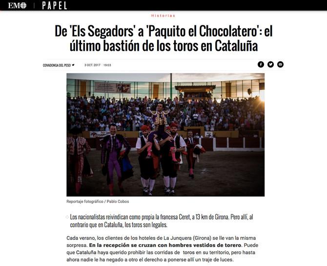 Ceret, el último bastión de los toros en Cataluña