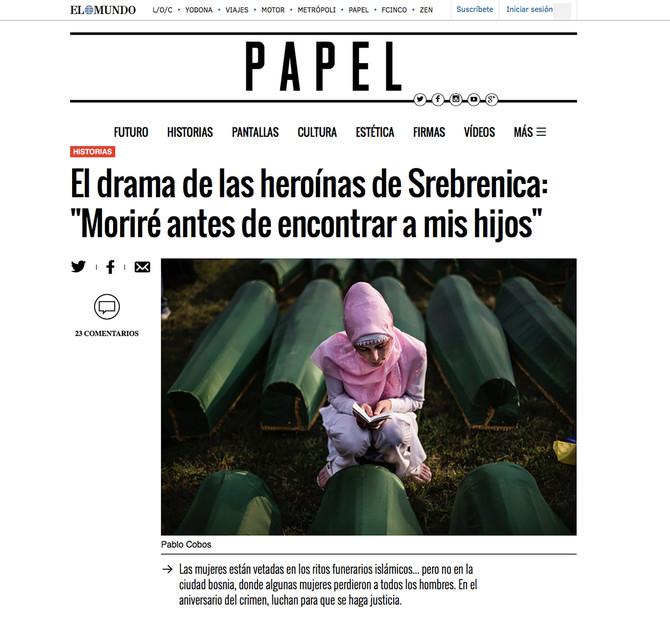LAS HEROINAS DE LA MATANZA DE SREBRENICA