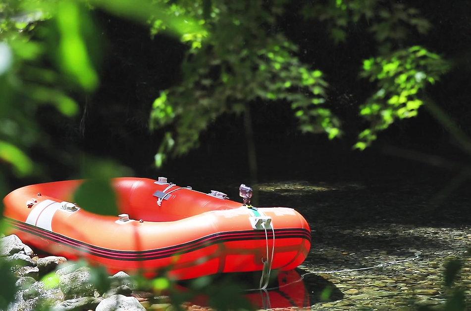 清流*ボート遊び