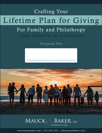Crafting Your Lifetime Plan for Giving