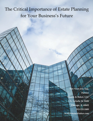 The Critical Importance of Estate Planning for Your Business' Future