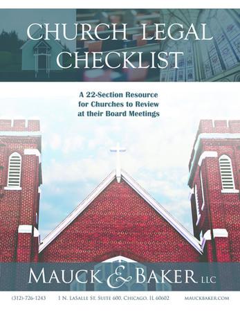Church Legal Checklist