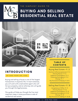 Buying and Selling Residential Real Esta