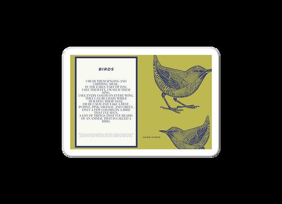 """""""Birds"""" Bubble-free Sticker"""