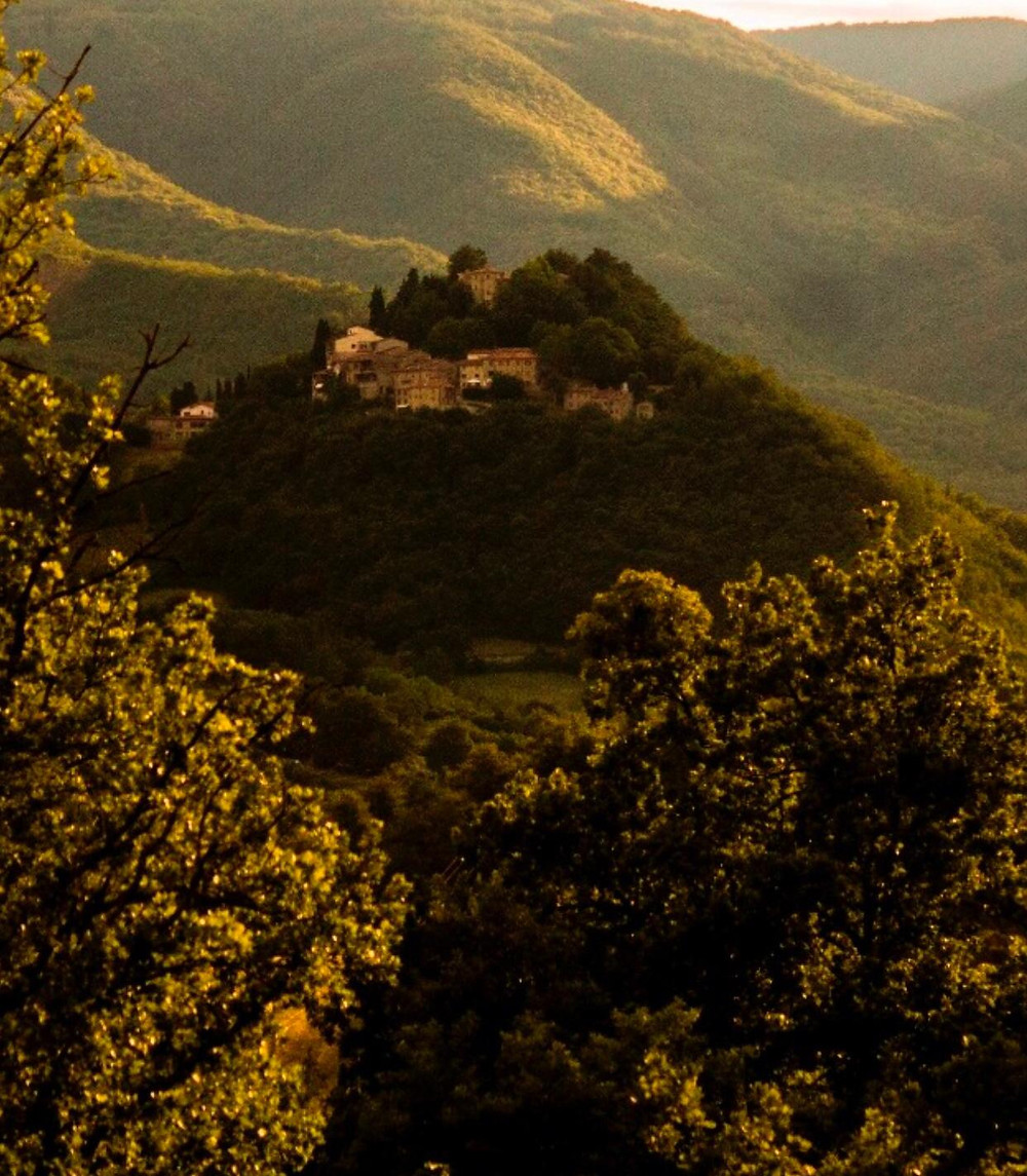 View of the Castle of Caprese Michelangelo, located not far from Arezzo, Tuscany. This is where Michelangelo Buonarroti was born back in 1475.