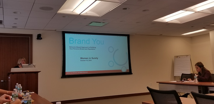 """Brand You"" Presentation on October 16, 2018 at Marsh's Midtown Office"