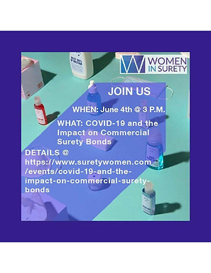 COVID-19 and the Impact on Commercial Surety Webinar held on June 4, 2020
