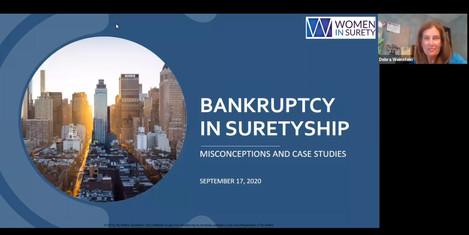 Bankruptcy in Suretyship Presentation held on September 17, 2020