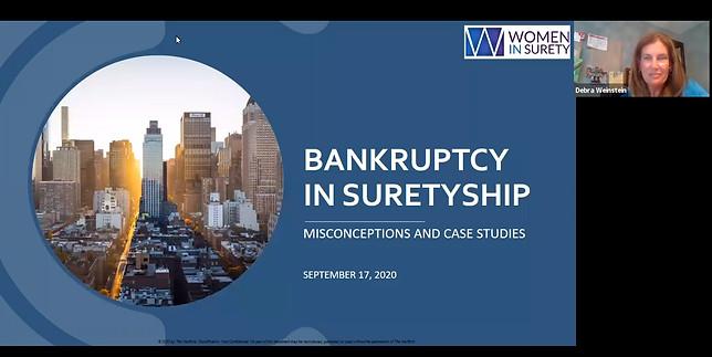 Bankruptcy in Suretyship Presentation on September 17, 2020