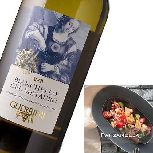 バゲットを使ったイタリアの夏野菜サラダ×旨味白ワイン