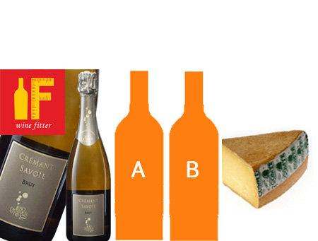 A フランスセット:スパークリング含む3本とコンテチーズ約100g