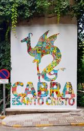 Mural colectivo con la participación de los niños del pueblo