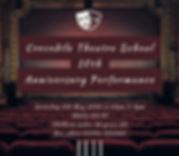 Crocodile Theatre School Advert May 2020