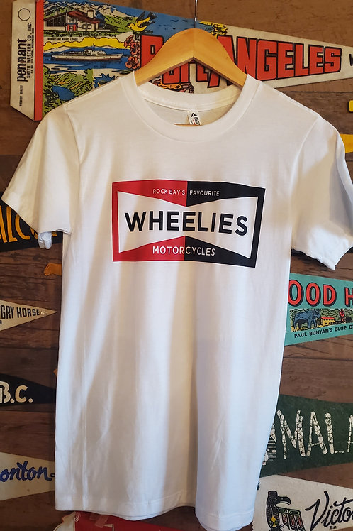 White Wheelies Champion Tee