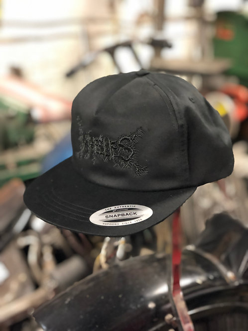 Wheelies Norway Black Unstructured Snapback with Black Embroidery