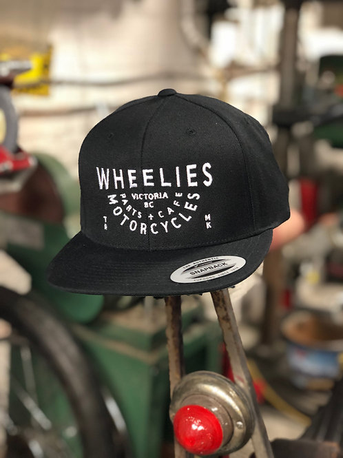 Wheelies Black Snapback Hat