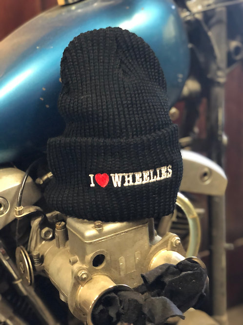 I Love Wheelies Beanie - Black