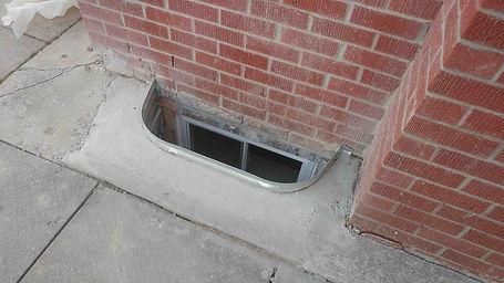 basement-window-cutout, replace basement window,