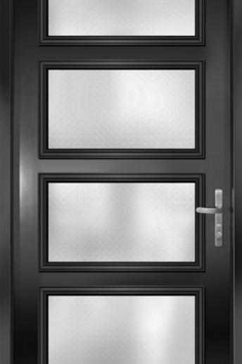 Black Door 4 Glass pannels