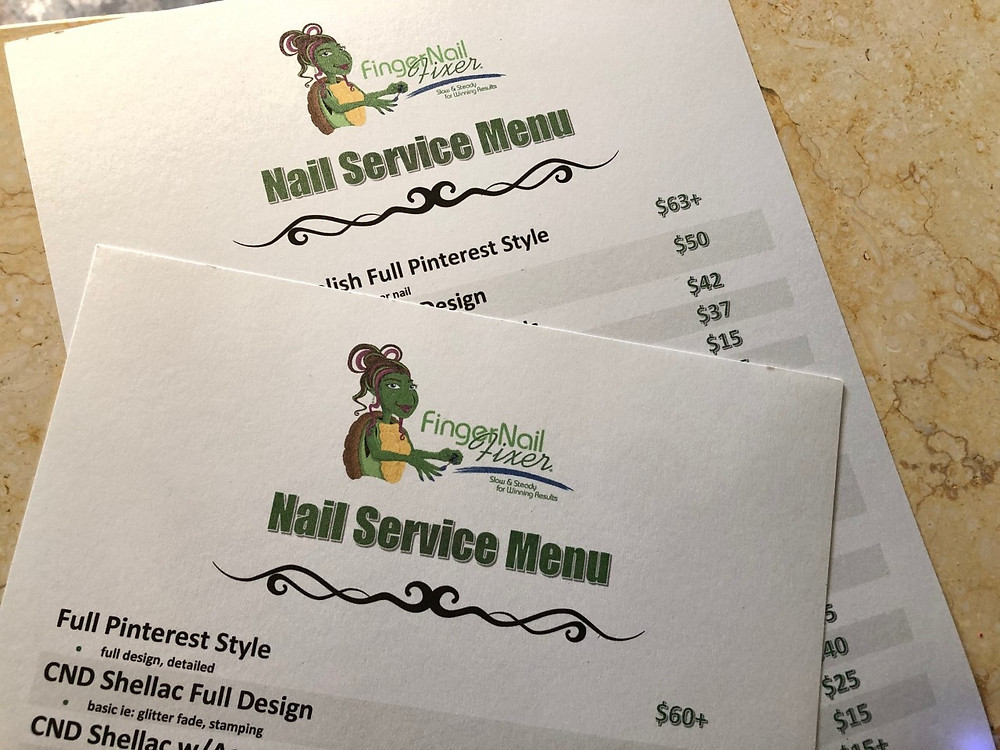 Practicing what I preach, here are my old and new menus as I transition pricing and services