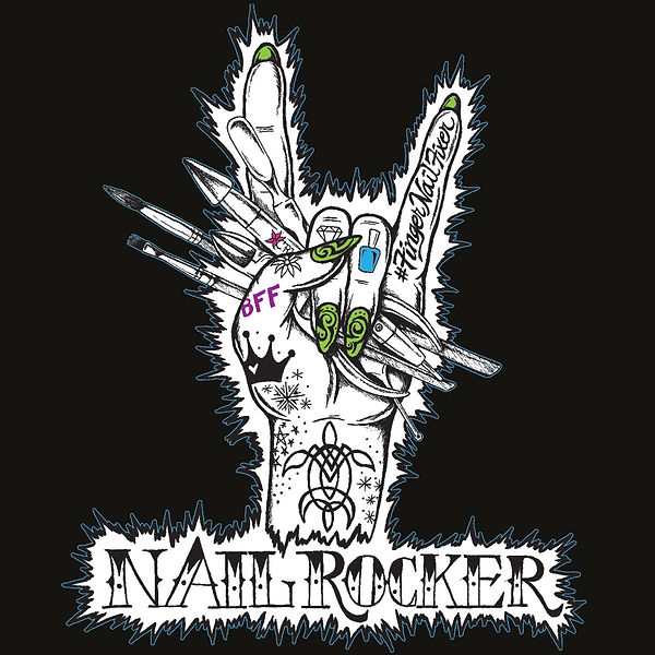 FingerNailFixer Nail Rocker Merch Design