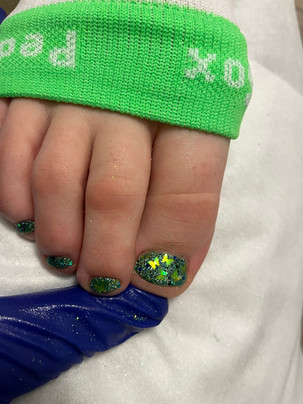 How to do Mosaic Rockstar Toes