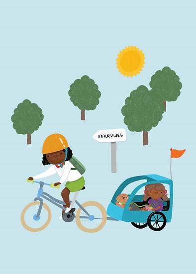 """F wie Fahrradfahren"" Postkarte"