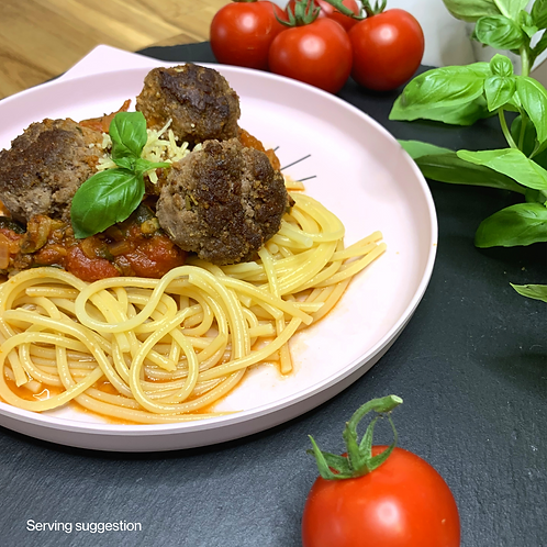 Bolognese Meatballs with Pasta