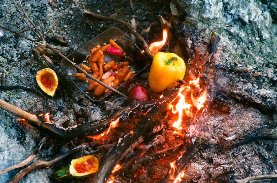 fire still life