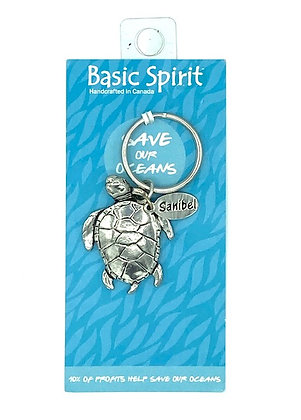 Pewter Keyring by Basic Spirit