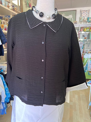 Kiyo Jacket Style Top Black