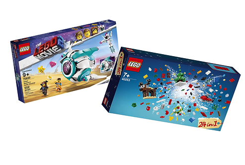 LEGO Bundle: LEGO Movie 2 Sweet Mayhem's Starship & Christmas Kits for 7+