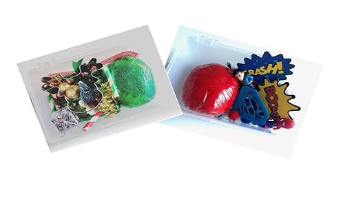 Small Play Dough Sensory Bundle: Super Hero and Christmas kits